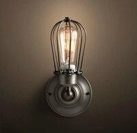 새로운 현대 에디슨 성격 산업 조명 카운터 램프 빈티지 벽 램프 조명 에디슨 전구 ac 110-220 v