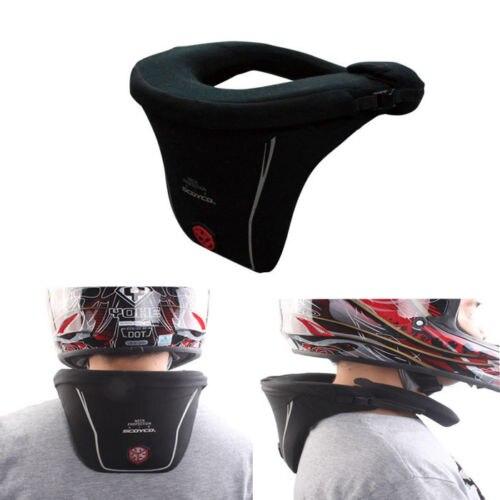 Protecteur de cou de moto haute qualité équipement de sport longue Distance course renfort de protection Motocross casque garde noir