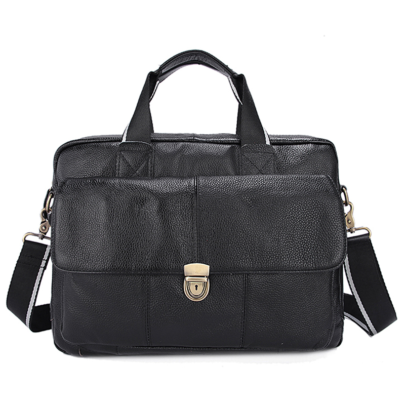 Men's Genuine Leather bag Mens Messenger Shoulder Bag Crossbody Men Briefcase Man Business Laptop Bags Handbag Portfolio Litchi цена и фото