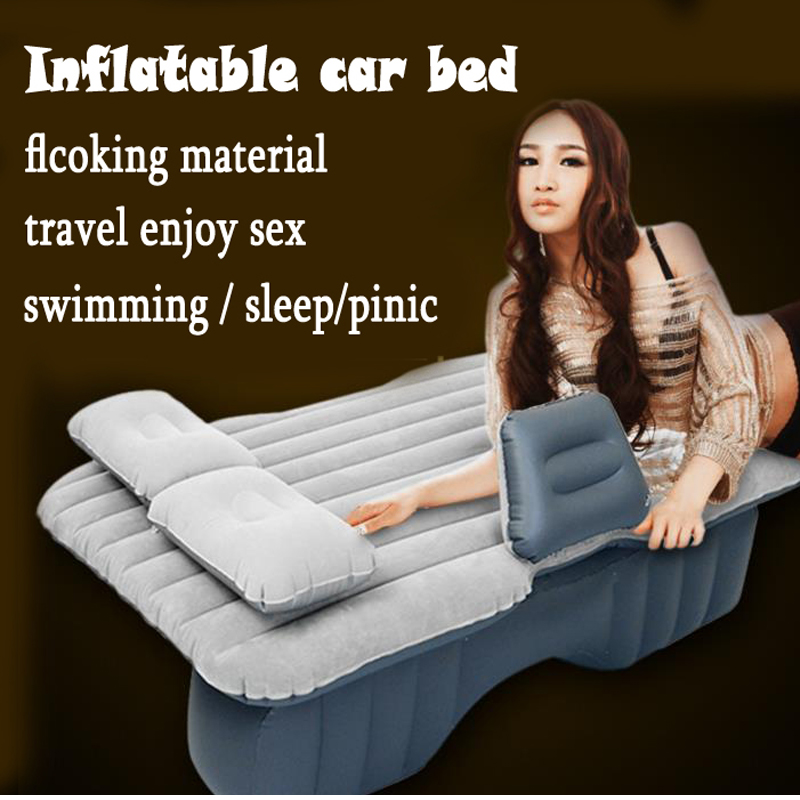 hot sale Car Back Seat Cover Car Air <font><b>Mattress</b></font> Travel Bed Inflatable <font><b>Mattress</b></font> Air Bed Good Quality Inflatable Car Bed sleep /sex