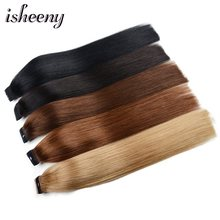 "Isheeny Human Hair Remy Ponytail Extensions 14"" 18"" 22"" Clip In Human Hair Extensions(China)"