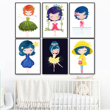Ballet Dancer Little Princess Nordic Poster And Print Wall Art Canvas Painting Picture Baby Girl Room Nursery Bedroom Decor