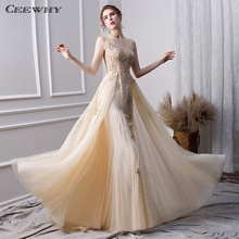 CEEWHY A-Line Formal Long Party Elegant Evening Dresses