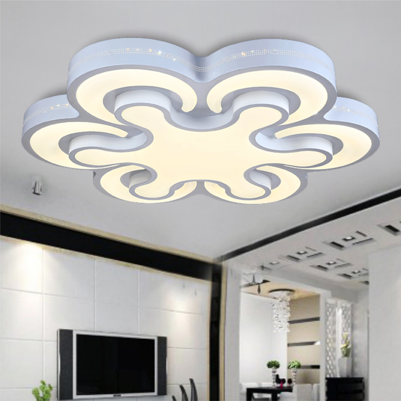 Modern led ceiling lights 72W bedroom lamps 6heads for livingroom kitchen lamp balcony ceiling light 90-260V lamparas de techo noosion modern led ceiling lamp for bedroom room black and white color with crystal plafon techo iluminacion lustre de plafond