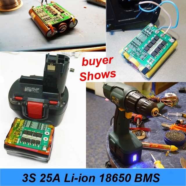 3S 40A For Screwdriver 12V Li-Ion 18650 Bms Pcm Battery Protection Board Bms Pcm With Balance Liion Battery Cell Pack Module 5