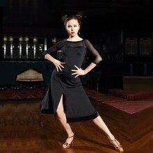 black salsa dance dresses latin dance wear ballroom tango dresses rumba dress latin ballroom dress latin