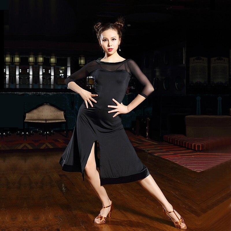 black salsa font b dance b font dresses latin font b dance b font wear ballroom