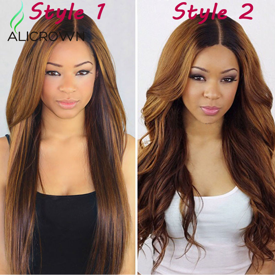 2 Color Full Lace Human Hair Wig With Baby Hair Natural Hairline Lace Front Human Hair Wigs Brazilian Body Wave Lace Wig U Part (2)