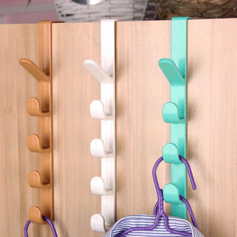 1 шт., вешалка для двери спальни, вешалка для одежды, держатель, крючки для сумок, полотенец, пластиковый крючок для хранения дома