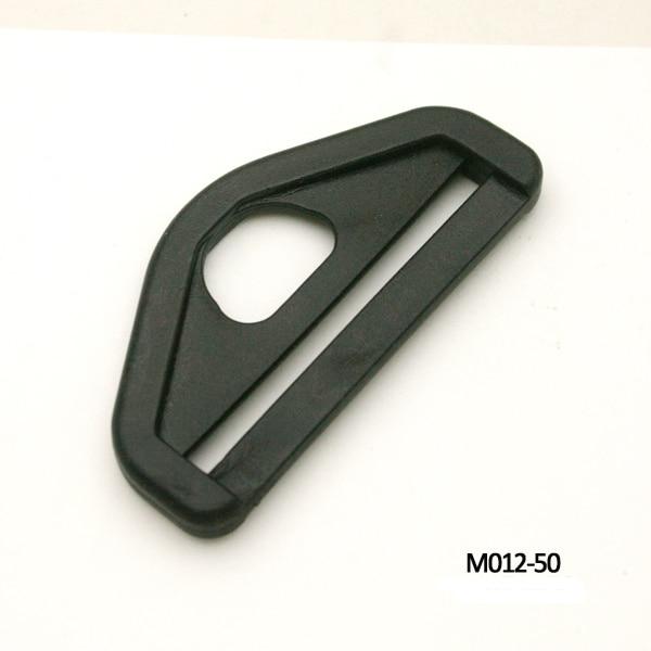 Wholesale Free shipping 60pcs 50mm 2inch black adjustable buckles plastic slider buckle for backpack webbing straps M012-50