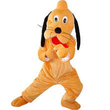 2016 high quality mascot costumes for Adult Goofy dog and Pluto mascot costume Adult size dog mascot costume