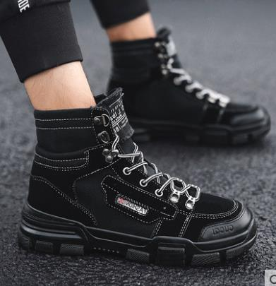 Fashion Men Low Flat Ankle 2018 Winter Autumn Work Boots Casual Martin Shoes Men Fashion Male work Boots size 39-44 3
