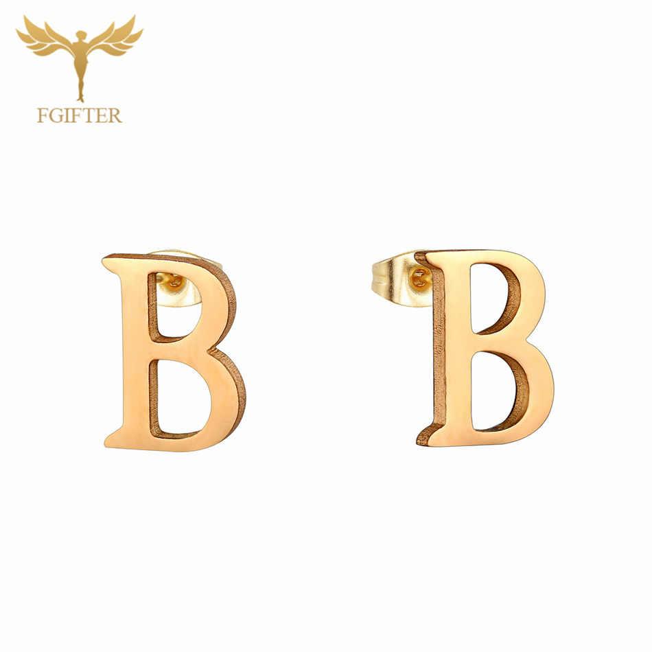คลาสสิกเด็กเครื่องประดับ 26 ตัวอักษร B จี้สร้อยคอและต่างหูสแตนเลสสตีลชุดเครื่องประดับเด็กของขวัญ