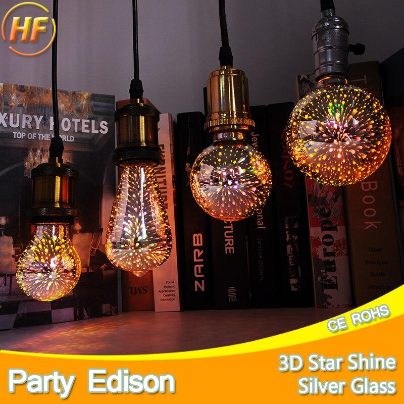 Green Eye Led Light Bulb 3D Decoration Bulb 110V 220V ST64 G95 G80 G95 A60 E27 Holiday Lights Novelty Christmas Lamp Lamparas