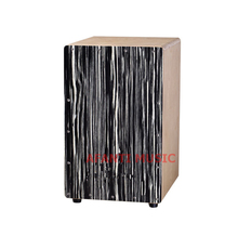 Afanti Music Black cane Wood / Birch Wood / Natural Cajon Drum (KHG-195)
