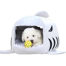Продукты для домашних животных, Теплые Мягкие Dog House Pet Спальный Мешок Кровать Cat Cat House Собака Акула Дом кама перро