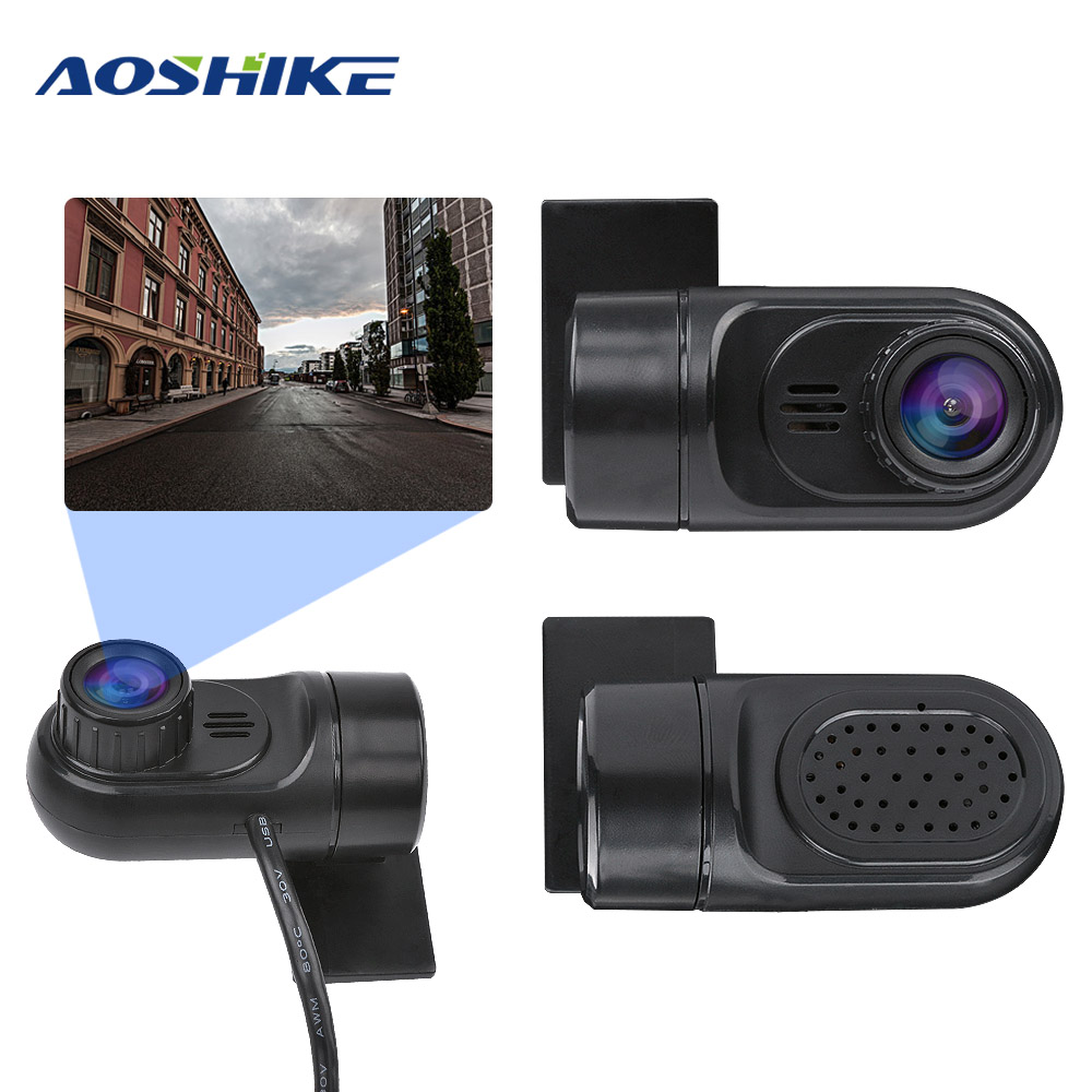 AOSHIKE Dash Camera  Mini Car DVR USB Camera For Android HD 140 Degrees Driving Recorder 64G Night Vision G sensor Car DVD-in DVR/Dash Camera from Automobiles & Motorcycles