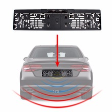 Auto Parktronic EU Car License Plate Frame Rear View Camera HD Night Vision Rear View Camera Reverse Rear Camera With 4 IR Light цена