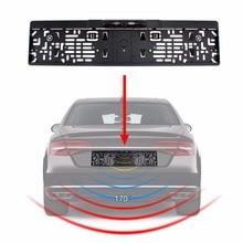Авто парктроник ЕС автомобилей номерных знаков рамка заднего вида Камера HD Ночное Видение заднего вида Камера Обратный заднего Камера с 4 ИК свет