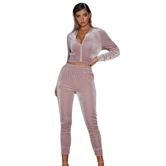 Women's warm up suits velour