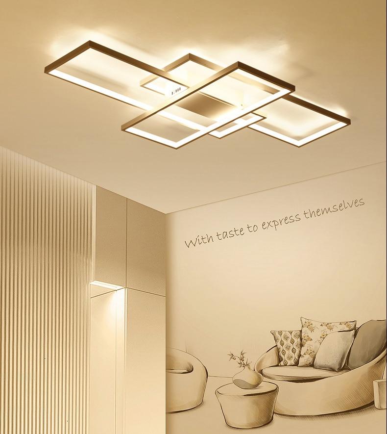 HTB1DFjsaLfsK1RjSszgq6yXzpXaT NEO Gleam Rectangle Aluminum Modern Led ceiling lights for living room bedroom AC85-265V White/Black Ceiling Lamp Fixtures