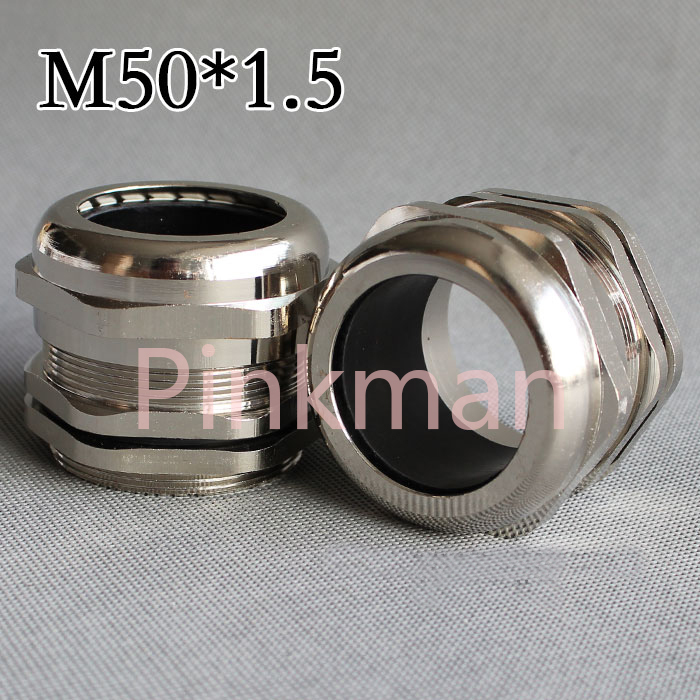 1pc Metric System m50*1.5 304 Stainless Steel Cable Glands Apply to Cable 32-38mm цена и фото