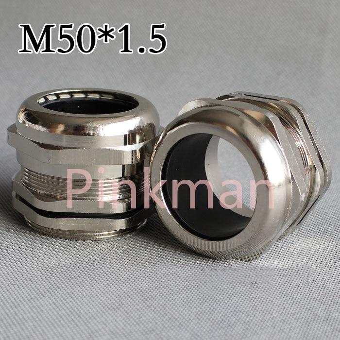1 шт. метрическая система м50*1.5 304 Нержавеющая сталь Кабельные вводы применяются для Кабельный 32-38мм