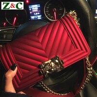 2018 Luxury V Lattice Chain Shoulder Messenger Bag Fashion Elegant High Quality Womens Crossbody Bags Famous Design PVC Handbags