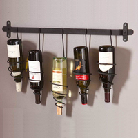 Metal Wall Hanging Wine Bottle Rack Wine Holder For Bar Home Creative Decoration