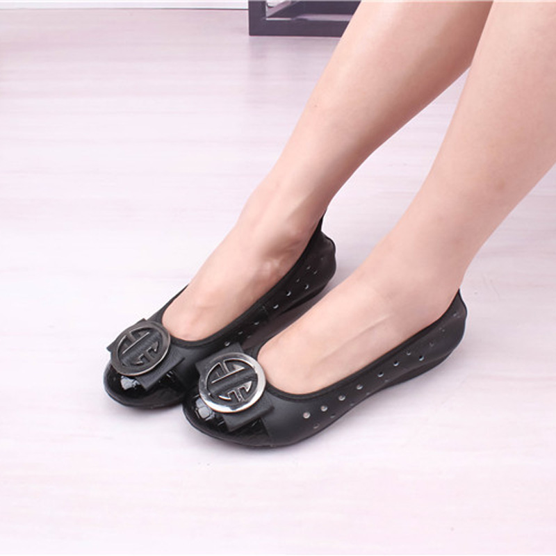 Summer Women Shoes Genuine Leather Flats Casual Shoes Women Cut-Outs Female Flat Sandals Shoes