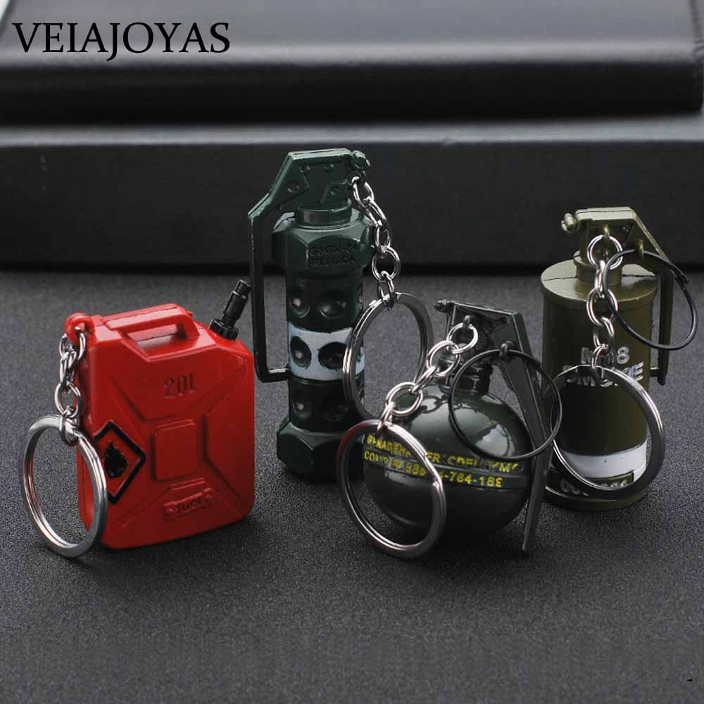 Hot Game PUBG Weapon Model Metal Keychain Fashion Car Bag Chaveiro High Quality Charm Pan Key Ring Porte Clef CS GO Gun Jewelry