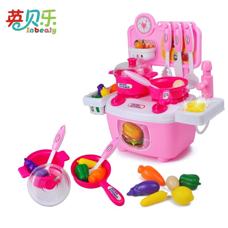 Attent Mini Keuken Tafel Serie Kachel Kraan Servies Sets Pretend Play Keuken Speelgoed Fruit Ei Plantaardig Voedsel Monteren Speelgoed Meisje Gift Superieure Materialen