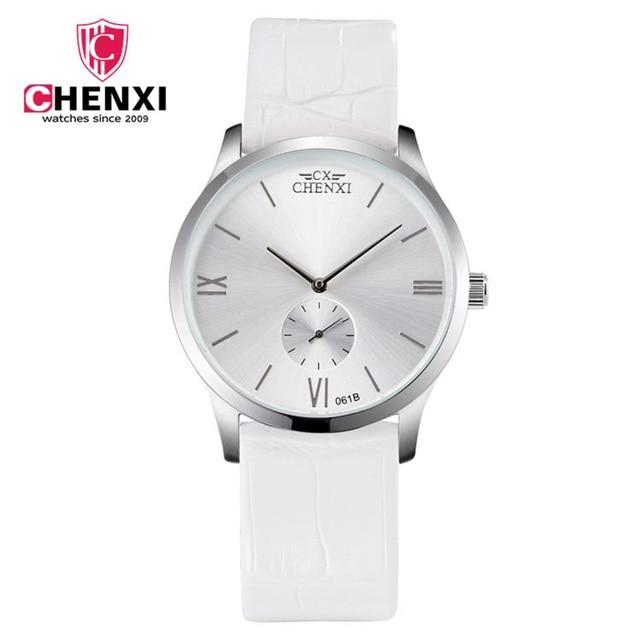 Chenxi mujeres casual relojes único Cuero auténtico minimalismo lujo moda  hombres mujer Relojes de cuarzo regalo dff2797ca017