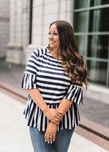 2019 women t-shirts tee top womens t tops  striped tee shirt  printed sexy female tshirt