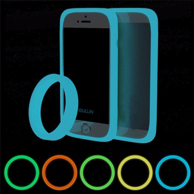 Brand New 5 Color Fashion Round Ring Fluorescent Luminous Phone Bumper Case Silicone Bracelet For iPhone For Other cellphone