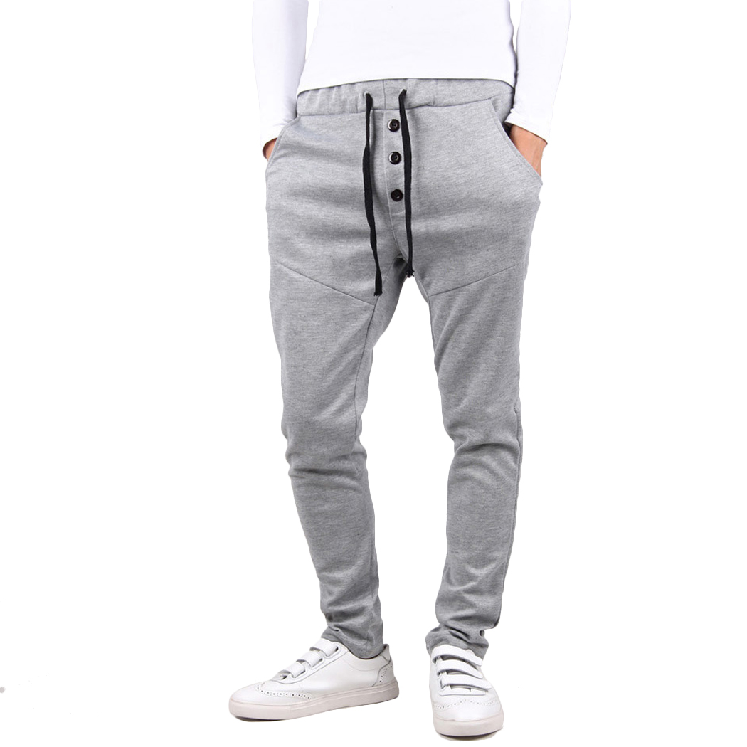 Jogger Pants Trousers Elastic Fitness Skinny Baggy Mens Casual Q4 Hombre