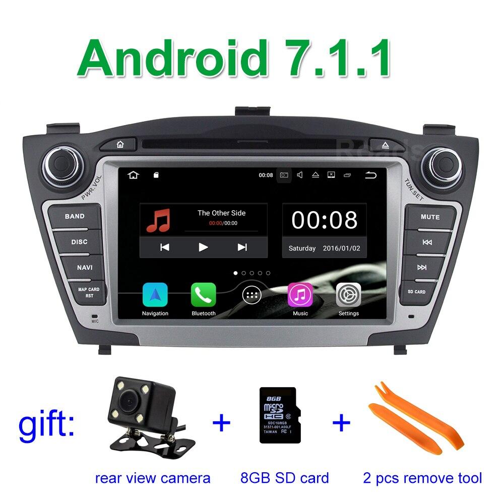 2GB RAM Android 7 1 1 Car DVD Player Radio for Hyundai IX35 Tucson 2009 2015