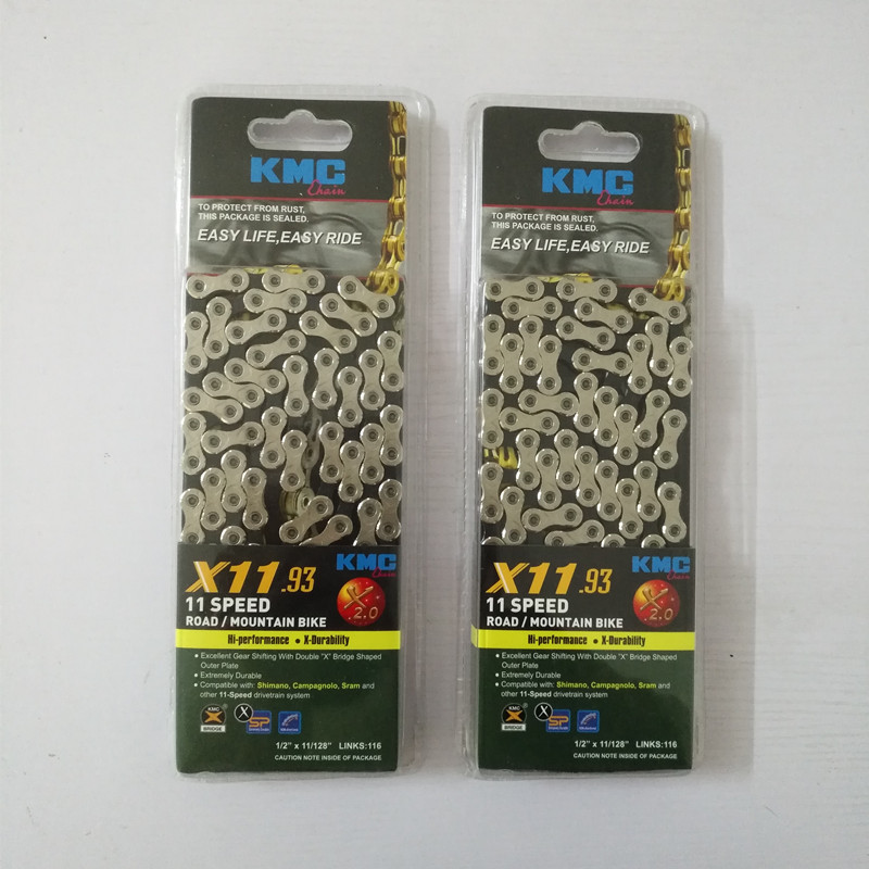 купить  Kmc 11 Speed Mtb Bicycle Chain Mountain Road Bike Chain Light 116 links  недорого