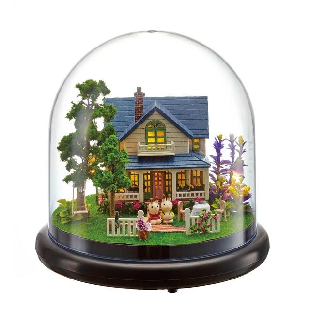 Handmade Doll House Furniture Miniatura Diy Doll Houses Miniature Dollhouse Wooden Toys For Children Grownups Birthday Gift B014