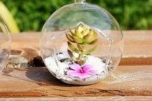 Дешевые 10 см 6 шт./компл. звезды открытие стеклянные вазы, кашпо, висит мох террариум, воздуха завод бонсай, дома украшения