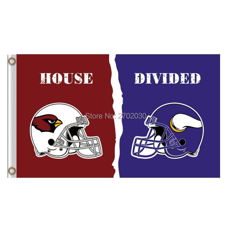 Arizona Cardinals Flag Vs minnesota vikings banner World Series Super Bowl Champions Helmet Cardinals And vikings Flag