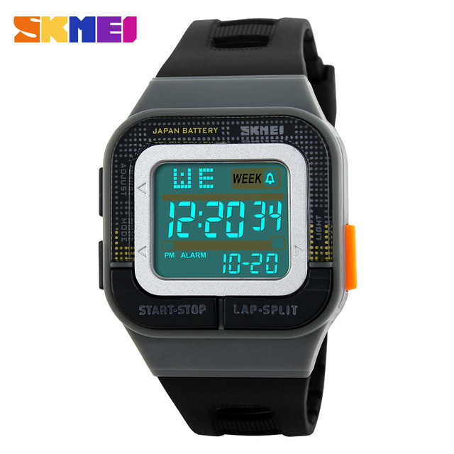 2016 New Brand SKMEI Men Military Sports Watches Fashion PU Waterproof LED Digital Watch For Men Clock Digital Wristwatches