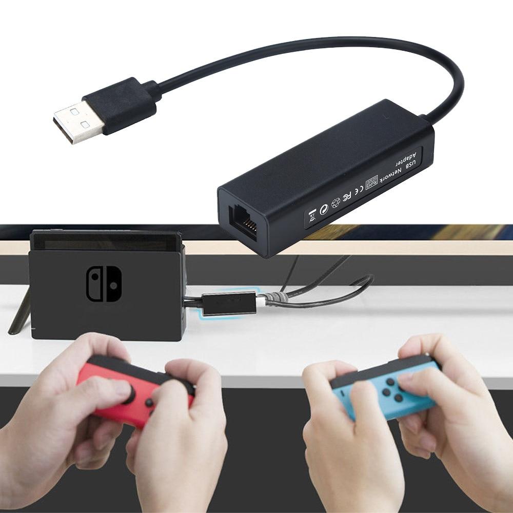 1000Mps USB 2,0 к RJ45 Lan Ethernet адаптер концентратор сетевая карта для Nintendo переключатель для N-Switch Wii U