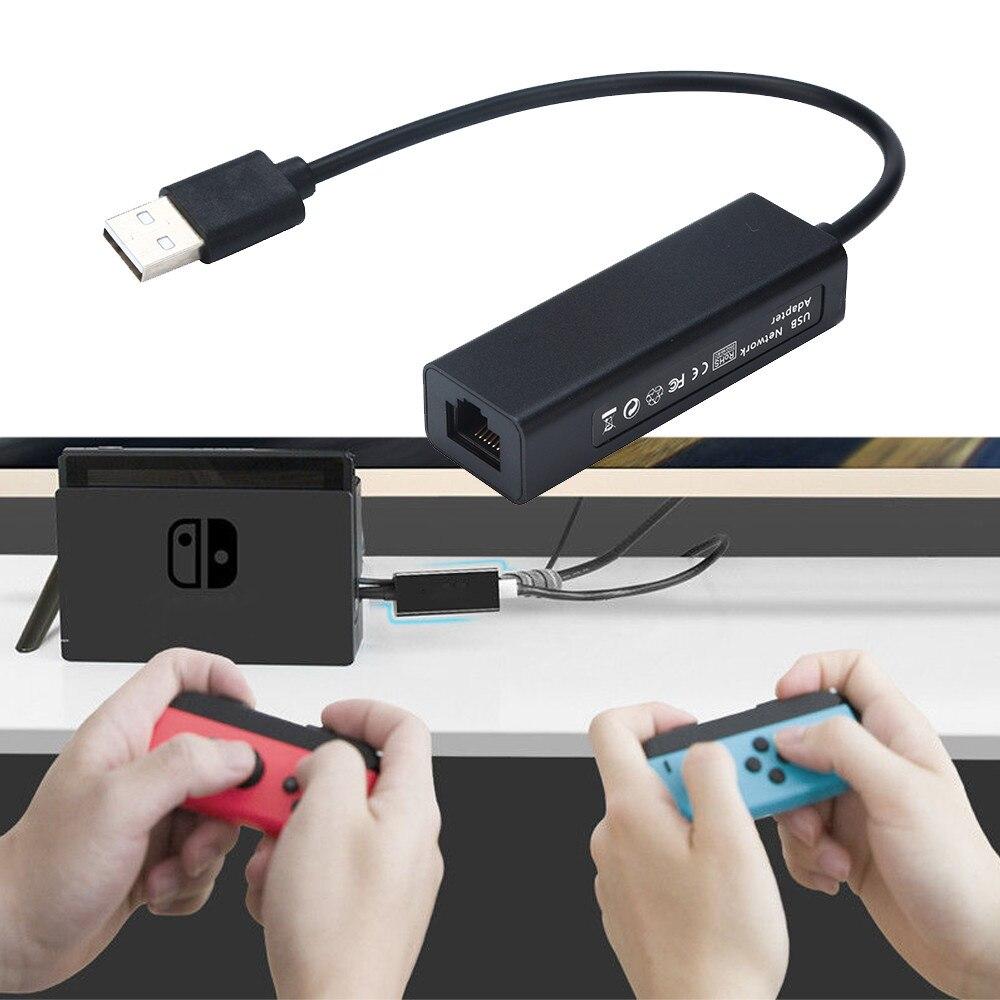1000Mps USB 2,0 к RJ45 Lan Ethernet адаптер Hub сетевая карта для Nintendo Switch для N-Switch Wii U