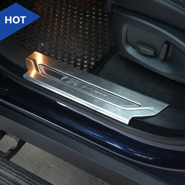 Stainless Steel Inner Door Sill Scuff Plate For Jaguar F-Pace X761 2016 2017