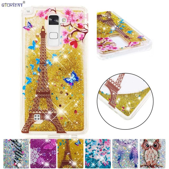 reputable site 58095 55382 US $4.28 8% OFF Bling Case For LG Stylus 2 Stylo 2 Glitter Dynamic Liquid  Quicksand Cover Stylus2 Stylo2 LGK520 LS775 Silicone Phone Cases Funda-in  ...