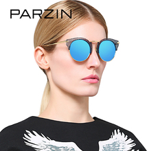 PARZIN Brand Designer Steampunk Women Sunglasses Hollow Alloy Frame Top Quality Real Polarized Sun Glasses For Driving Eyewear