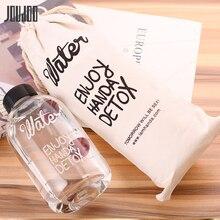 JOUDOO 600ML/1000ML Plastic Water Bottle Brief Juice Milk Glass Ins Travel Tour Outdoor with Lid Drinkware 35