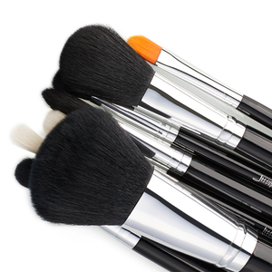 Image 4 - Jessup Pro 15 unids Maquillaje Pinceles Set Negro/Plata Cosmética maquillaje Herramienta Pincel Polvos Sombra de Ojos Delineador de Labios belleza