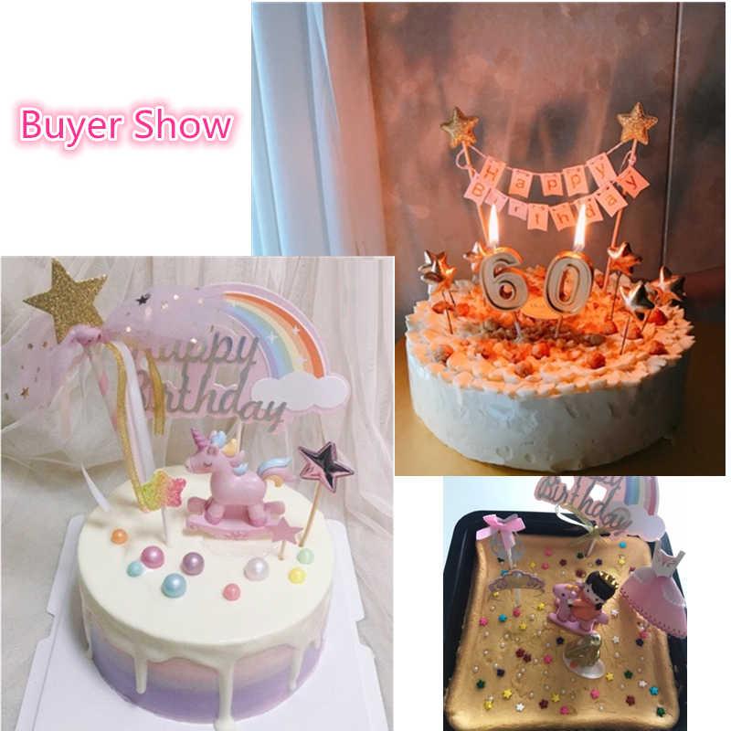 Enjoyable Soft Pink Happy Birthday Cake Bunting Topper Girl Princess Cake Birthday Cards Printable Benkemecafe Filternl